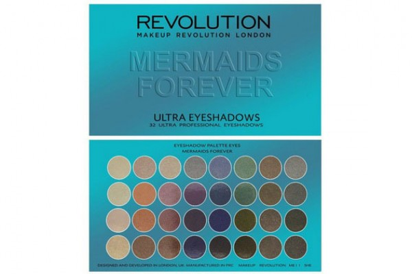 Палетка теней - Makeup Revolution Ultra 32 Shade Palette Mermaids Forever