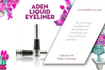 Подводка для глаз водостойкая - Aden Liquid Eyeliner