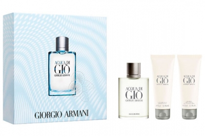 Giorgio Armani Acqua di Gio Pour Homme - Набор (edt 100ml + a/sh balm 75ml + sh/gel 75ml)