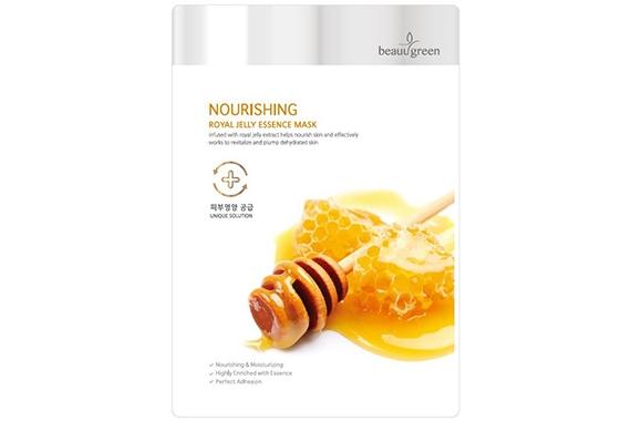 Маска с маточным молочком - BeauuGreen Nourishing Royal Jelly Essence Mask