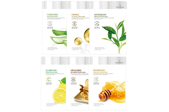 Маска c экстрактом зеленого чая - Beauugreen Antioxidant Green Tea Essence Mask