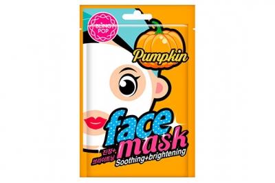 Маска для лица с экстрактом тыквы - Bling Pop Pumpkin Smoothing & Brightening Mask