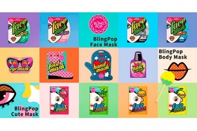 Маска для лица с экстрактом персика - Bling Pop Peach Firming & Brightening Mask