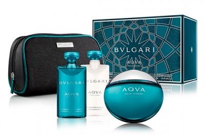 Bvlgari Aqva Pour Homme - Набор (edt 100ml + sh/gel 75ml + ash/balm 75ml + bag)