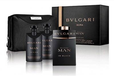 Bvlgari Man In Black - Набор (edp 100ml + sh/gl 75ml + a/sh/balm 75ml + pouch)
