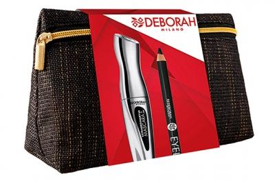 Набор - Deborah Extraordinary Kit (mascara + pencil + bag)