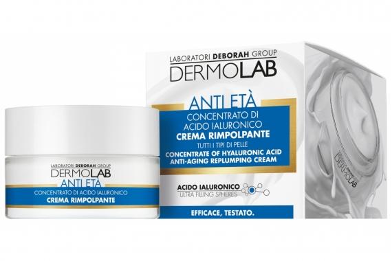 Омолаживающий крем - Deborah Dermolab Anti-Aging Replumping Cream Concentrate Hyaluronic Acid