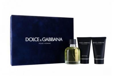 Dolce&Gabbana pour Homme - Набор (edt 75 + s/g 50 + a/sh balm 50)