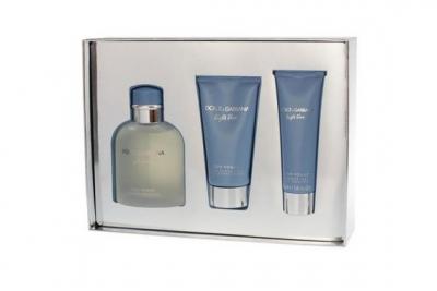 Dolce&Gabbana Light Blue pour Homme - Набор (edt 75 + s/g 50 + a/sh balm 50)