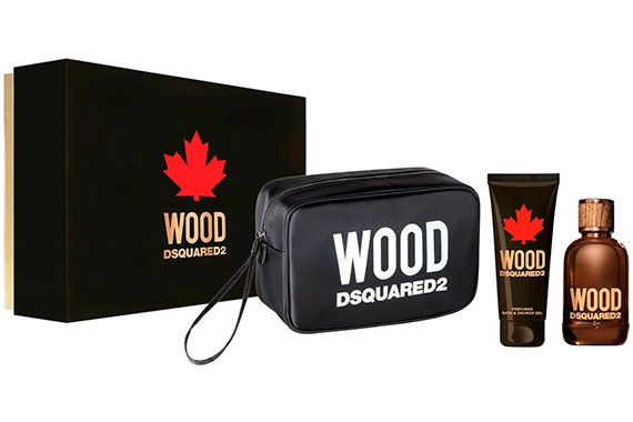 Dsquared2 Wood Pour Homme - Набор (edt 100ml + sh/gel 100ml + bag)