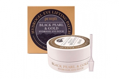 Патчи для глаз с золотом и черным жемчугом - Petitfee & Koelf Black Pearl & Gold Hydrogel Eye Patch