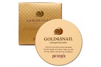 Патчи для глаз с золотом и улиткой - Petitfee & Koelf Gold & Snail Hydrogel Eye Patch