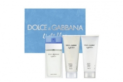 Dolce & Gabbana Light Blue Set - Набор (edt 100ml+b/cream 100ml+sh/gel 100ml)