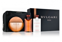Bvlgari Aqva Amara - Набор (edt 100ml + sh/gel 75ml + ash/balm 75ml + bag)