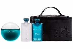 Bvlgari Aqva Pour Homme - Набор (edt 100ml + sh/gel 75ml + ash/balm 75ml + bag)