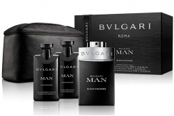 Bvlgari Man Black Cologne - Набор (edt 100ml + ash/balm 75ml + sh/gel 75ml + bag)