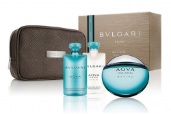 Bvlgari Aqva Pour Homme Marine - Набор (edt 100ml + sh/gl 75ml + a/sh/balm 75ml + bag)