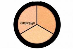 Хайлайтер для лица - Deborah Highlighter Trio Palette