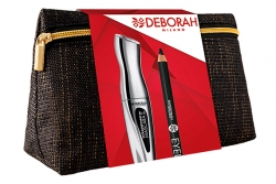 Набор - Deborah Extraordinary Kit (mascara + pencil + bag)