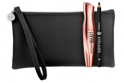 Набор - Deborah 24 ORE Instant Maxi Volume Kit (mascara + pencil + bag)