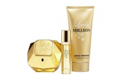 Paco Rabanne Lady Million - Набор (edp 80ml + edp 10ml + b/lot 100ml)