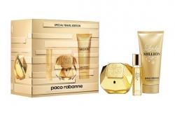 Paco Rabanne Lady Million - Набор (edp 80ml + edp 10ml + b/lot 100ml)
