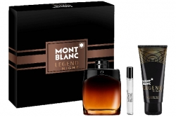 Montblanc Legend Night - Набор (edp 100ml + ash/balm 100ml + edp 7.5ml)