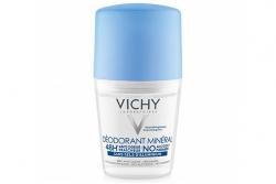 Шариковый дезодорант минеральный без солей алюминия - Vichy Deodorant Mineral 48 H